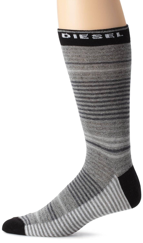 Diesel Men's Ray Fresh And Bright Pin Stripe Socks, Green, Large Diesel Men's Underwear 00S6U00KAAX