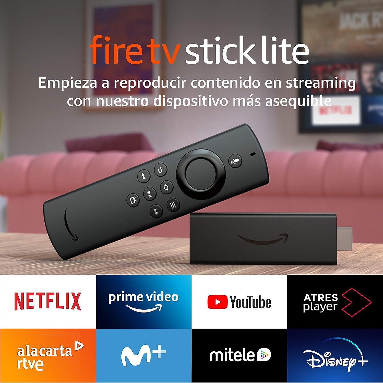 Presentamos el Fire TV Stick Lite con mando por voz Alexa | Lite (sin controles del TV), streaming HD, modelo de 2020