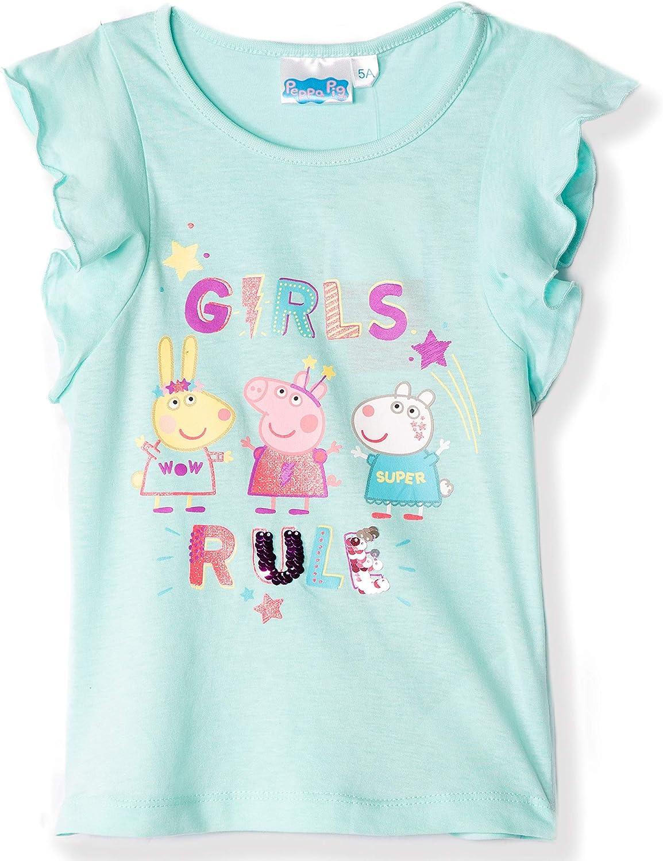 Peppa Pig - Camiseta oficial para niña, 100% algodón, con lentejuelas reversibles, 2-6 años: Amazon.es: Ropa y accesorios