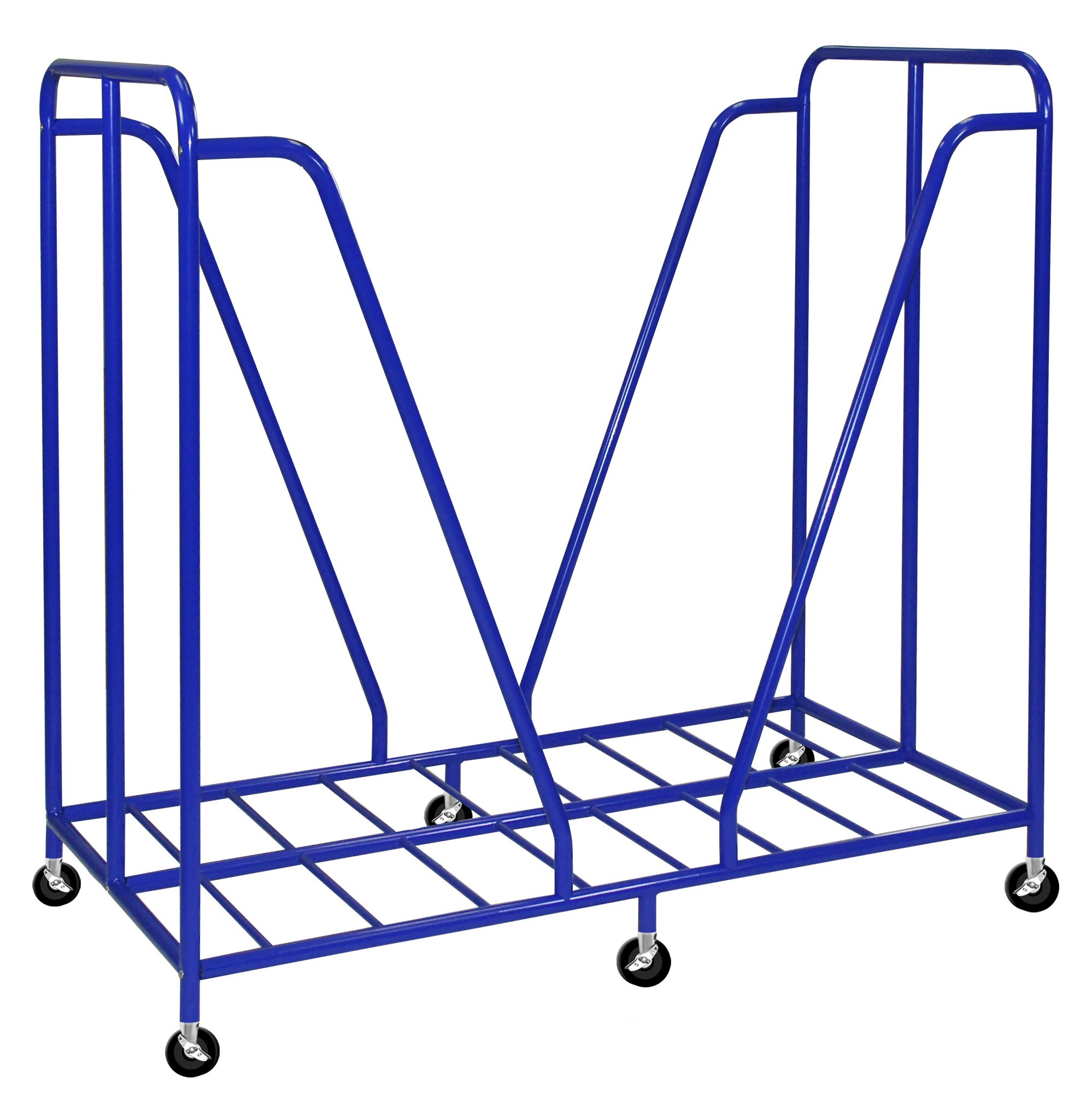 ECR4Kids Mobile Rest Mat Storage Trolley with Casters, Blue