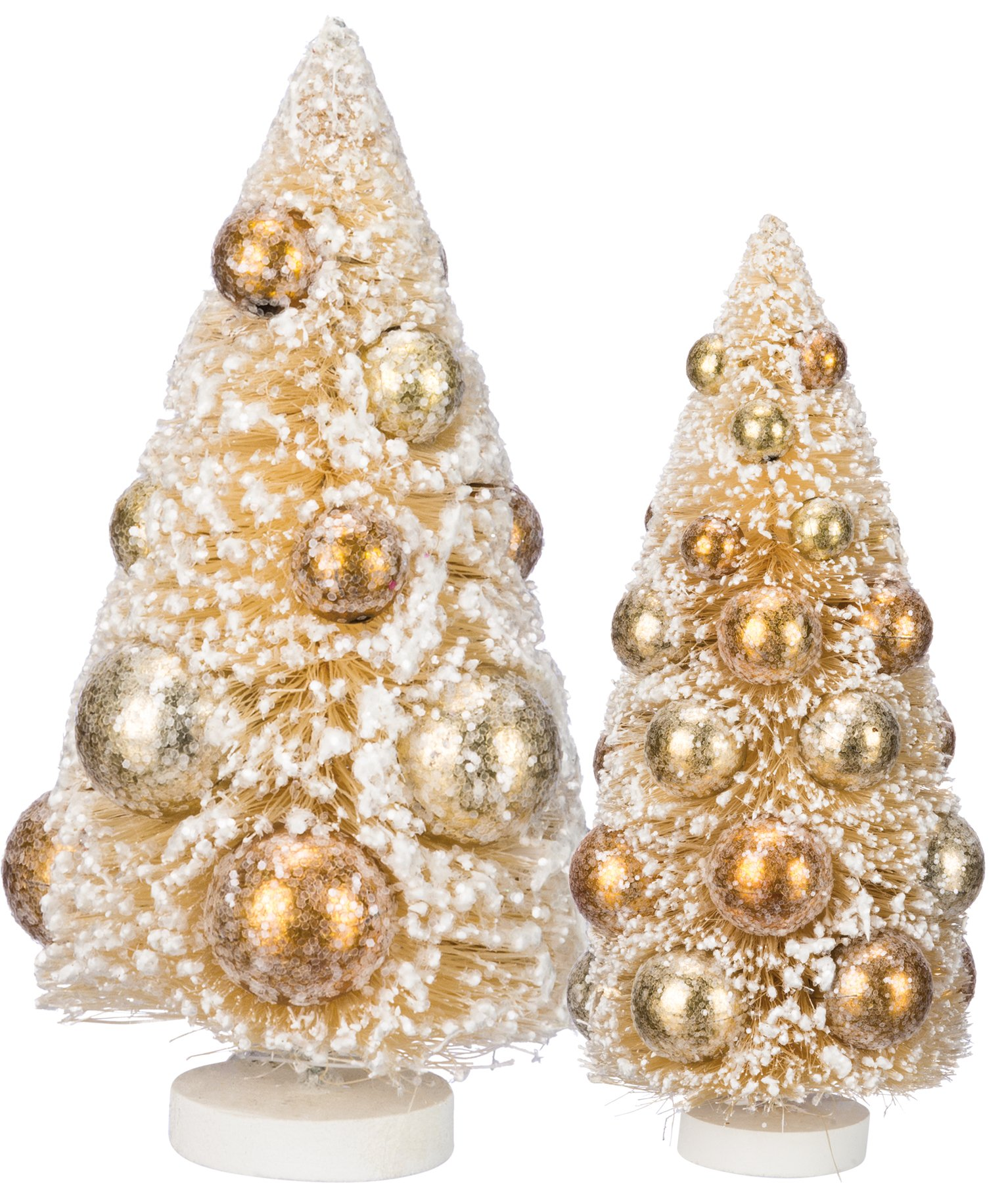 Primitives By Kathy Sisal Tree 6 Inches Tall and 9 Inches Tall Plastic Set Of 2 Seasonal Decor