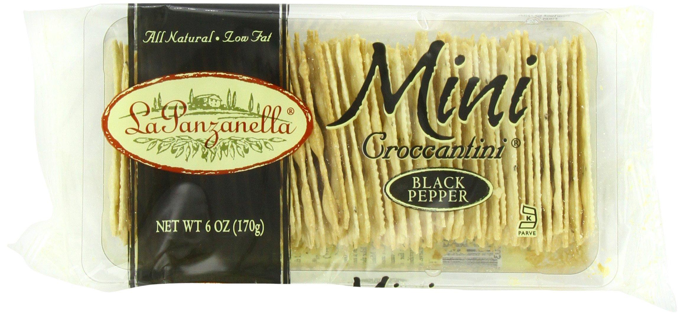 La Panzanella Black Pepper Mini Croccantini, 6-Ounce Packages (Pack of 6)