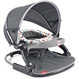 Fisher-Price On-the-Go Sit-Me-Up Floor Seat Arrows Away, Travel Baby Chair for indoor and outdoor use