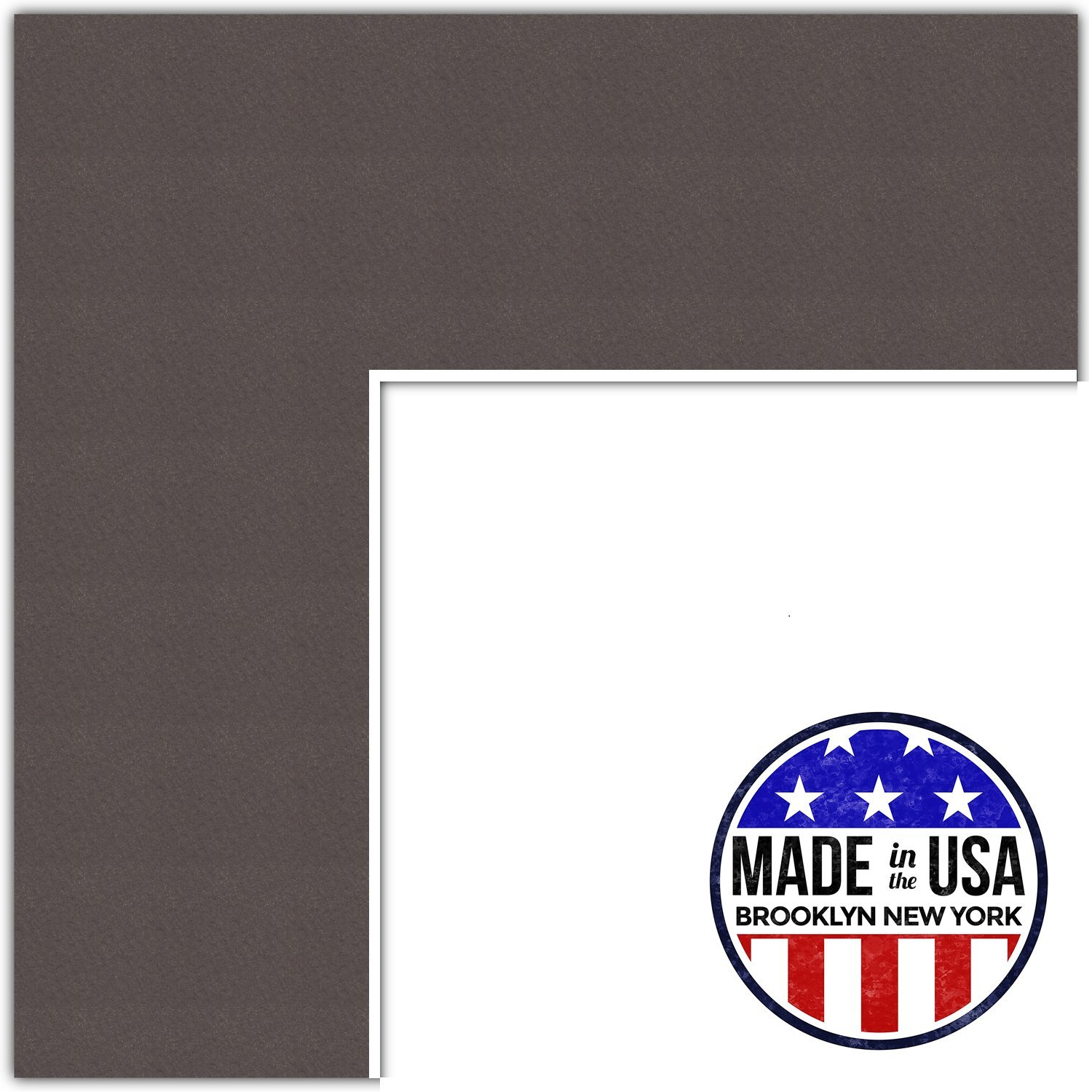 22x28 Weatherwood/Chestnut Custom Mat for Picture Frame with 18x24 opening size (Mat Only, Frame NOT Included)