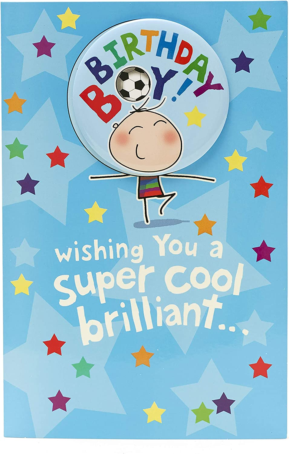 Birthday Boy Card - Boys Birthday Card - Birthday Card with Badge