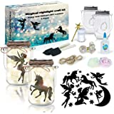 2Pepers DIY Fairy and Unicorn Nightlight Craft Kit (2 Pack), Fairy Lantern Jars Arts and Crafts for Girls, Make Your Own…