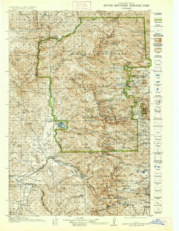 Amazon.com: YellowMaps Rocky Mountain National Park CO topo ...