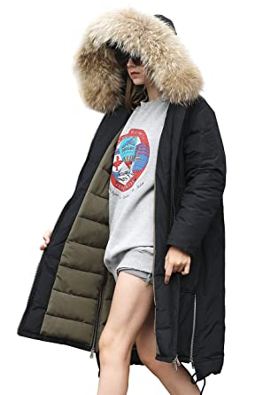 d0a458bef YOU.U 【 Three Days Bonus! Women Water-Resistant Parka with Faux Fur Trim