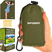"Kynetykon Ultimate Waterproof Travel Blanket. 55""x70"" Soft & Durable Pocket Blanket. Travel Light & Stay Clean. Compact Outdoor Mat for Picnics, Hiking, Camping, Parks, Beach, Festival, Sports, Bike"