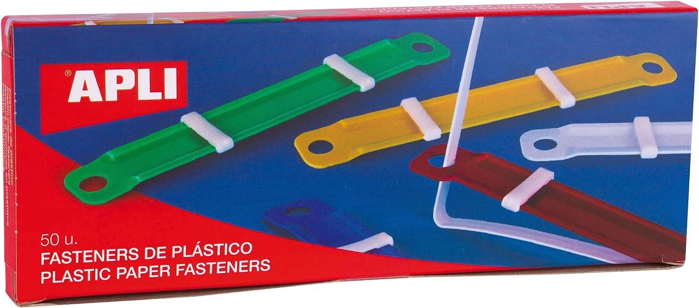 APLI 14909 - Fásteners de plástico colores surtidos 90 x 12 mm 50 u.
