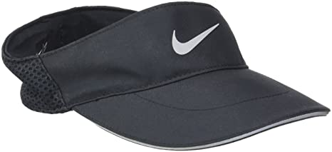 Amazon.com  Nike Mens Aerobill Elite Running Visor Black 828651-010 ... 6ae5673b357