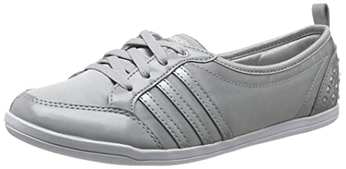 really comfortable sleek stable quality adidas PIONA W Ballerines Mode Sneakers Femme Gris Argent T ...