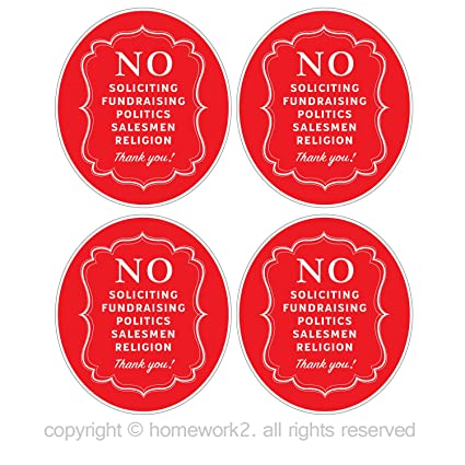 No soliciting sign stickers for home and business vinyl decals uv protected waterproof