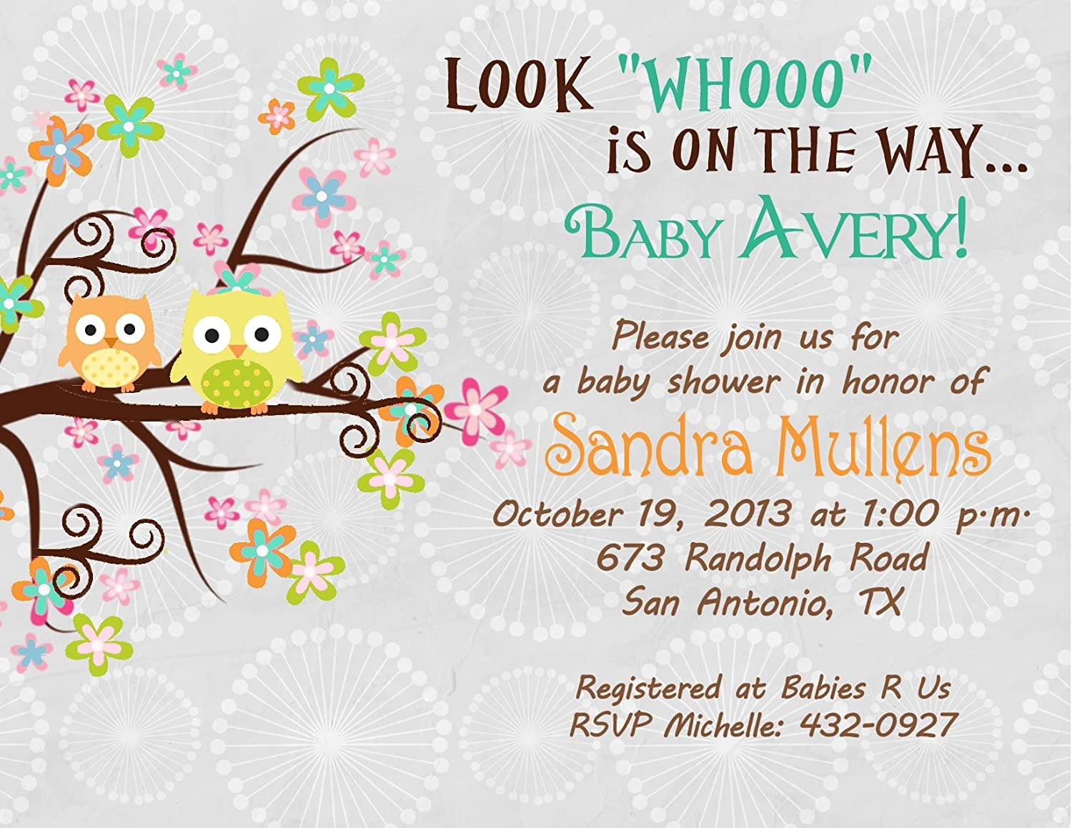 Amazoncom Personalized Baby Shower Bridal Shower Invitations Tree