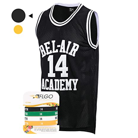 6bfbd4b7e AFLGO Fresh Prince of Bel Air  14 Basketball Jersey S-XXXL – 90 s Clothing  Throwback Will Smith Costume Athletic Apparel Clothing Top Bonus Combo Set  with ...