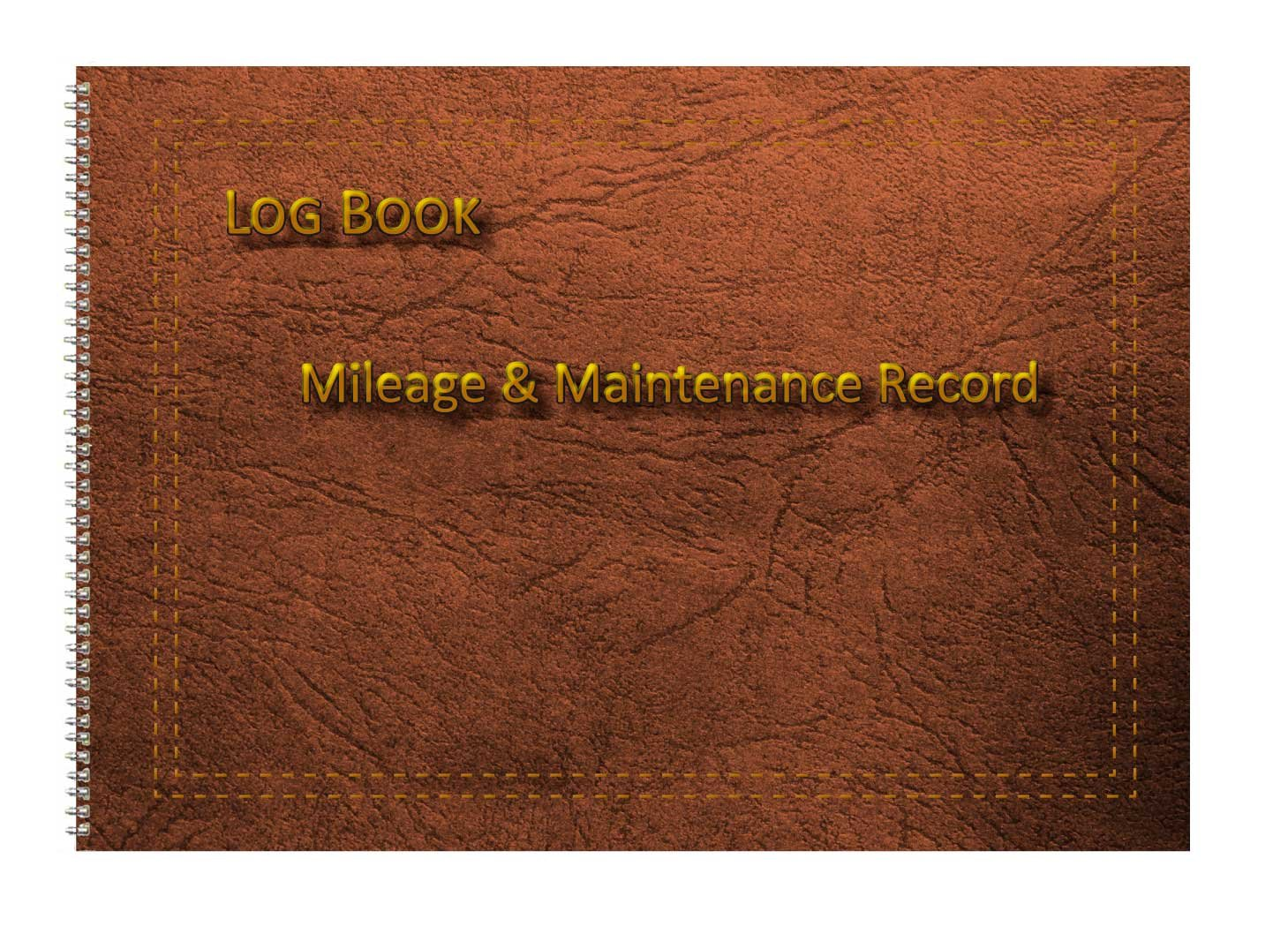 A5 8 by 6 Purple Print Effect Cover Vehicle Mileage Log Book