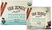 Four Sigmatic Mushroom Hot Cacao with Reishi - USDA Organic Reishi Mushroom Powder - Natural Calm, Relax, Sleep - Vegan, Pal