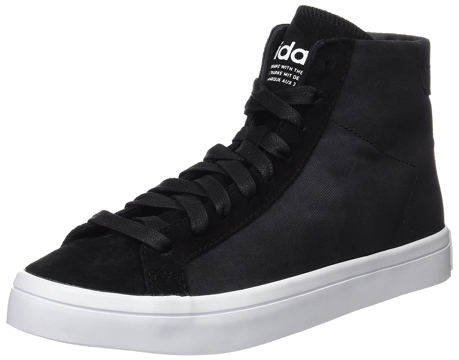 Adidas Damen Court Vantage Mid High-Top schwarz