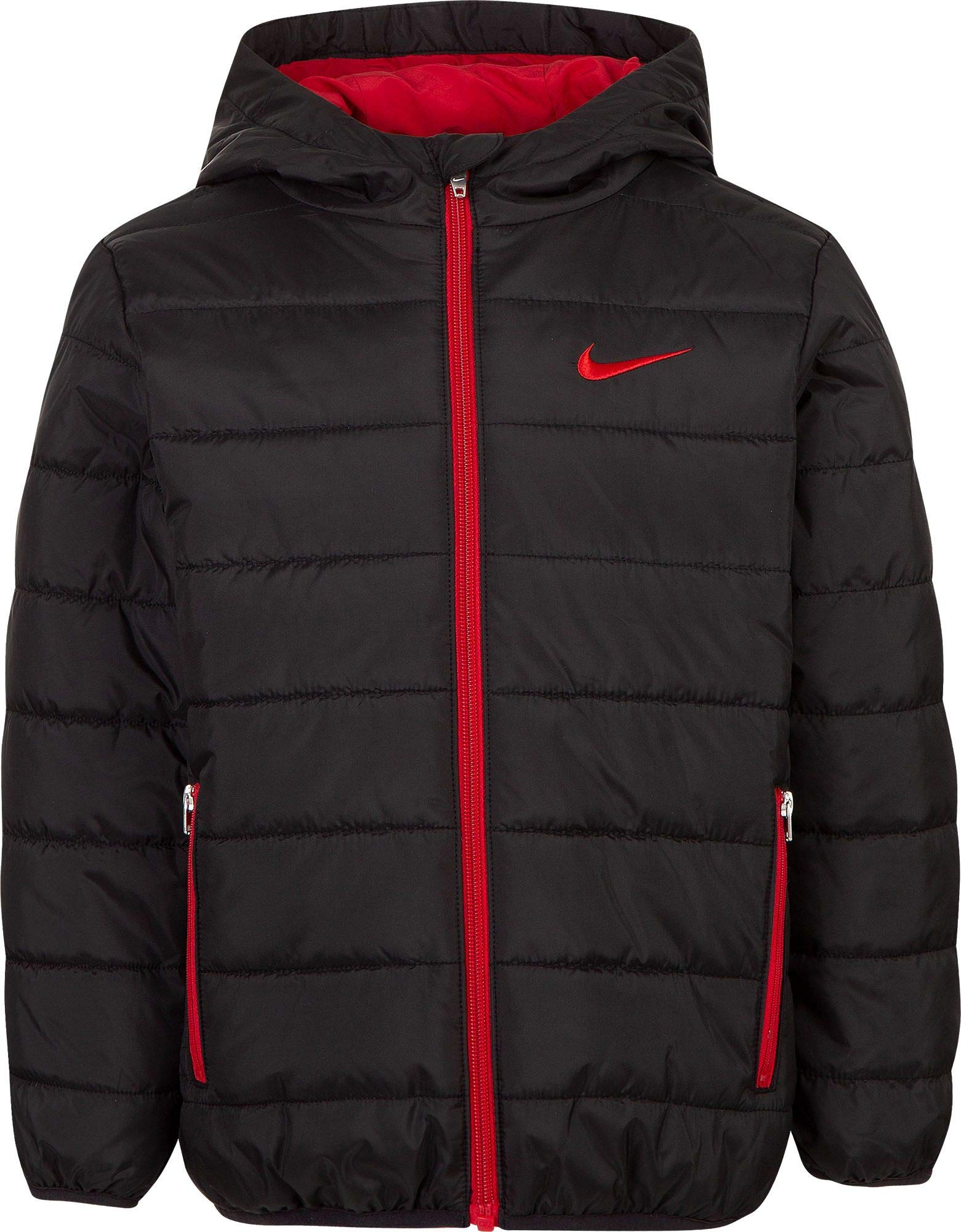Nike Boy's Polyfill Quilted Insulated Puffer Jacket (Black, 4) by Nike (Image #1)