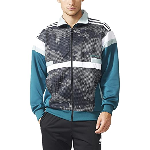 fec1f7f7c237 Amazon.com  Adidas Originals Mens Brion Snow Camo Track Jacket Black ...