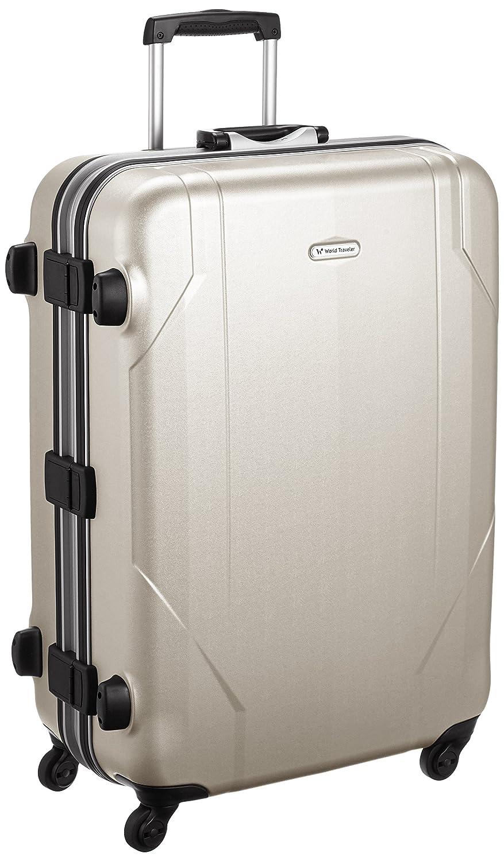[ワールドトラベラー] World Traveler 3年保証付 日本製スーツケース ヒッグス 68cm 81L 5.0kg 無料預入受託サイズ B01BUOFAPOプラチナムシルバー