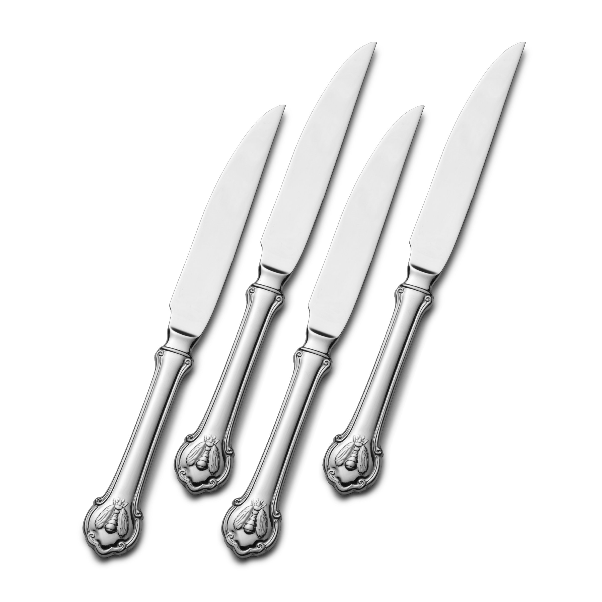 Wallace Napoleon Bee Stainless Steel Steak Knife, Set of 4, Silver