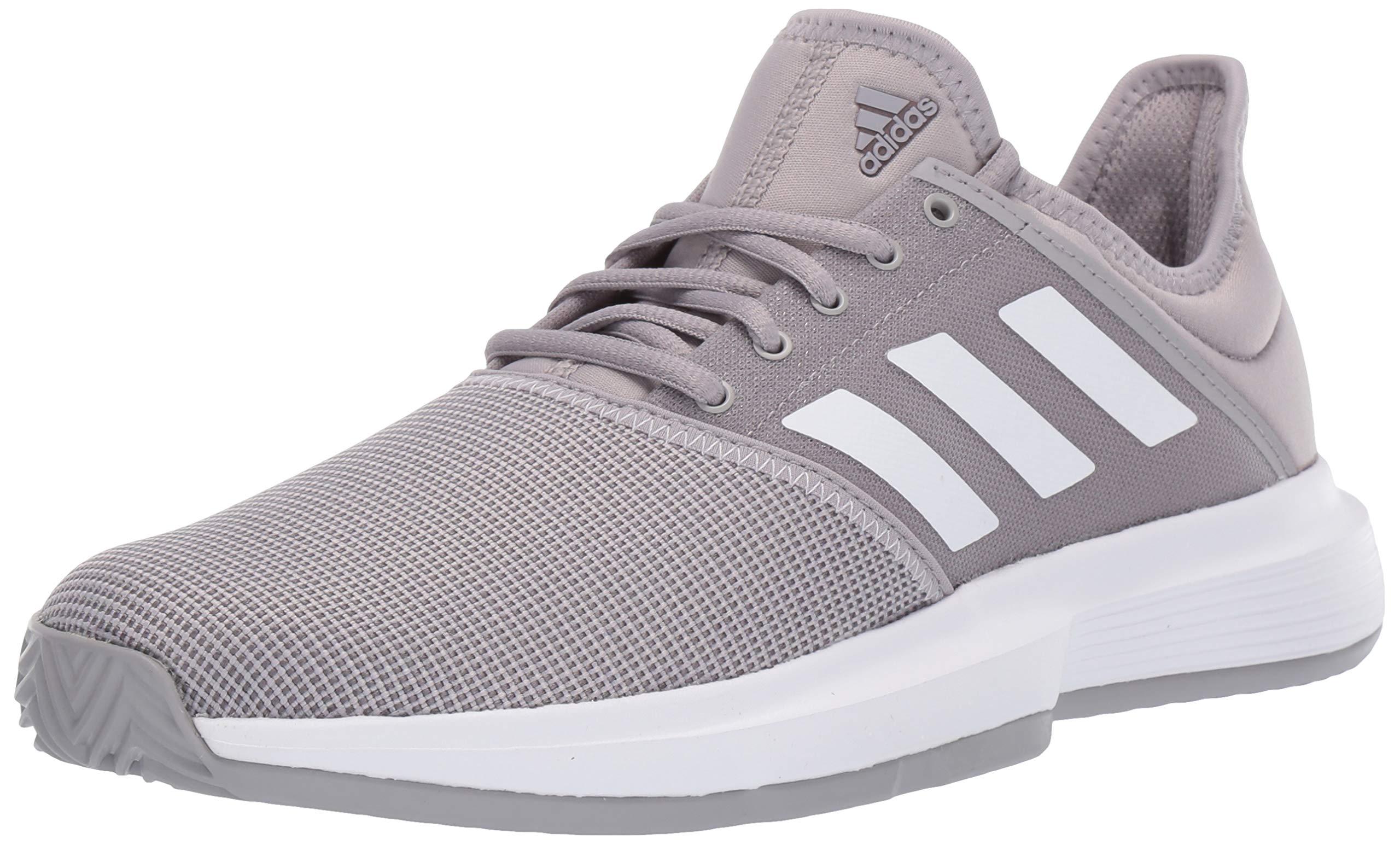 adidas Women's Gamecourt, Light Granite/White/Grey 8 M US by adidas