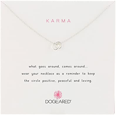 Amazon dogeared karma linked silver ring pendant dogeared quotkarmaquot linked silver ring pendant necklace 18quot mozeypictures Choice Image