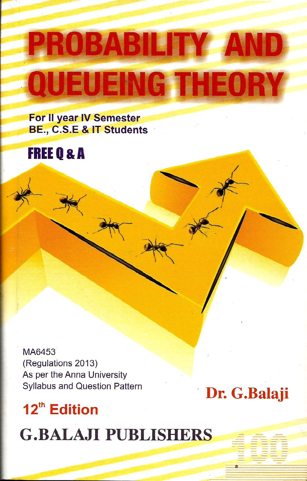 Probability And Queueing Theory By Singaravelu Ebook