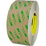 "BOX BT9674681PK 3M 468MP Adhesive Transfer Tape, Hand Rolls, 3"" x 60 yd., Clear"