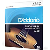 D'Addario EJ40 Silk & Steel Folk Guitar Strings, 11-47