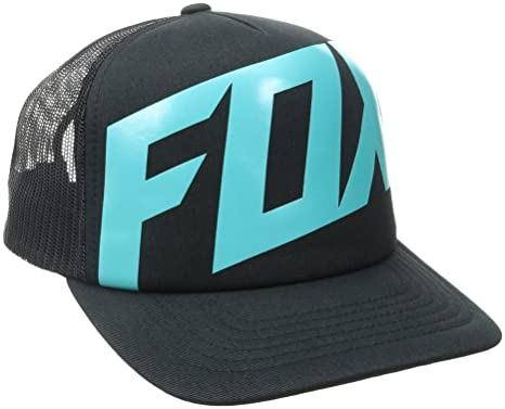 Fox Mens Flat Bill Snapback Hat, Black12, One Size