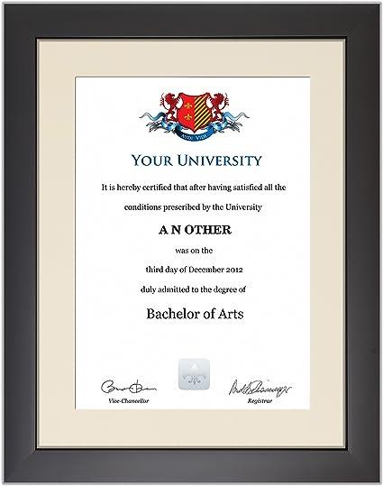 Cream certificato non incluso Cornice per certificato di laurea in stile moderno