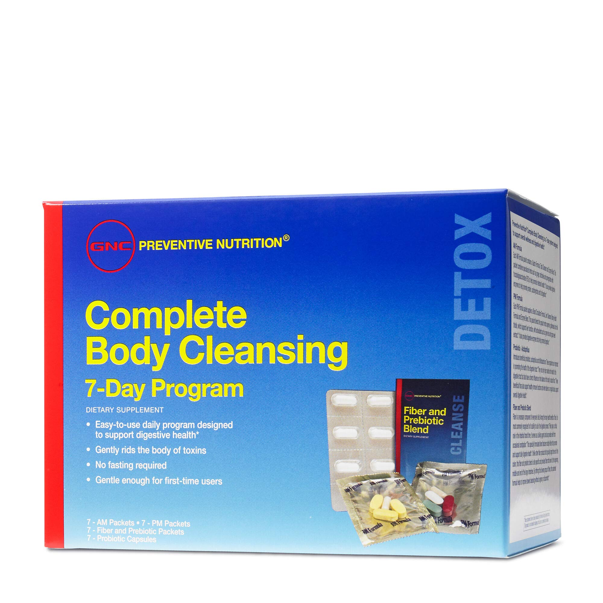 GNC Preventive Nutrition Complete Body Cleansing Program, 7 Day(s), Supports Overall Wellness and Digestive Health