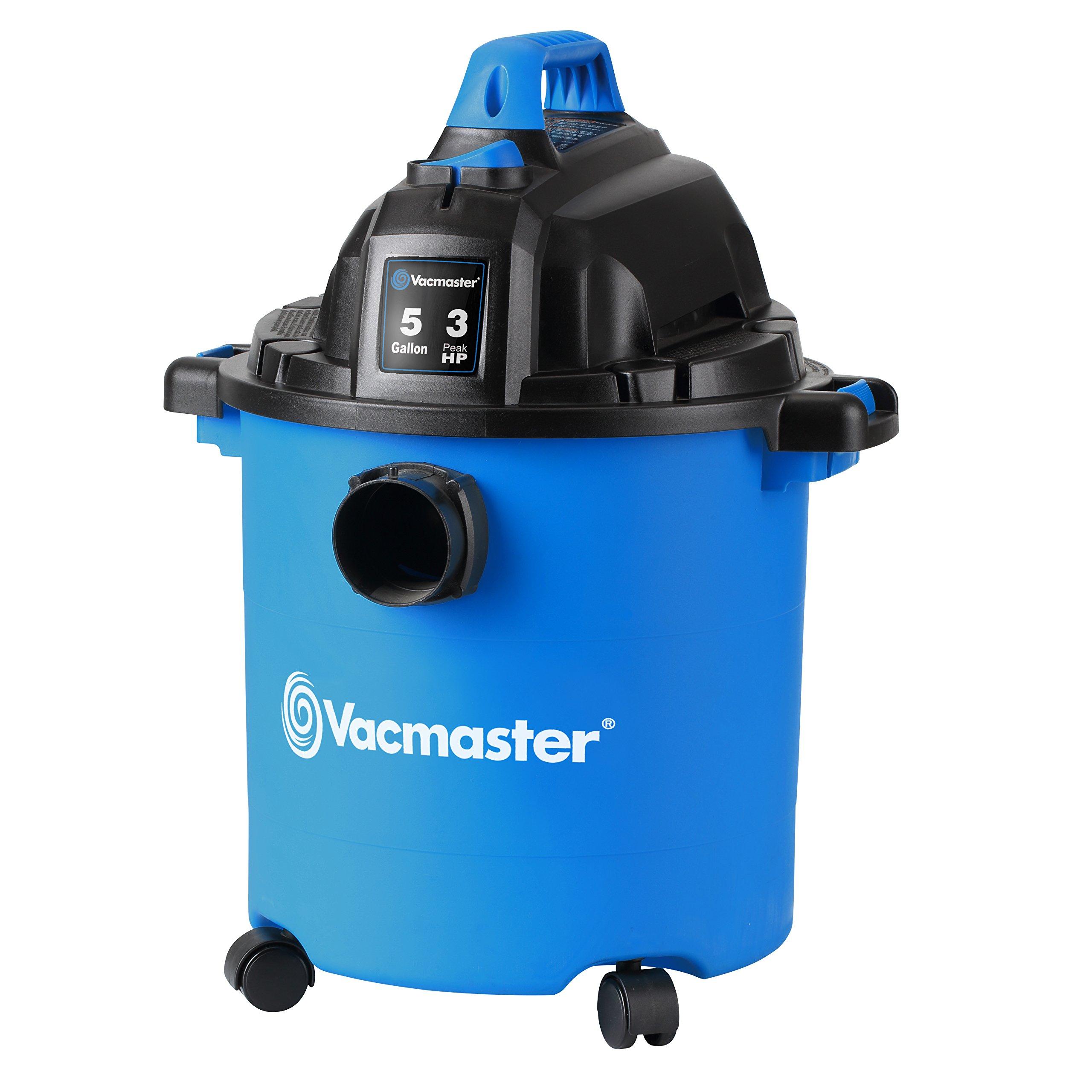 Vacmaster, VJC507P, 5 Gallon 3 Peak HP Wet/Dry Shop Vacuum by Vacmaster