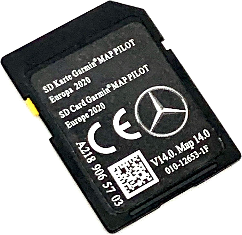 Tarjeta SD 2020/2021 para Mercedes-Benz Garmin Map Pilot SD Card 2020 A2189065703 V14. Cubre toda Europa, Número de pieza: A2189065703: Amazon.es: Electrónica