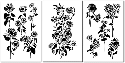 Plantillas de pintura de girasol de 14 pulgadas, para decoración ...
