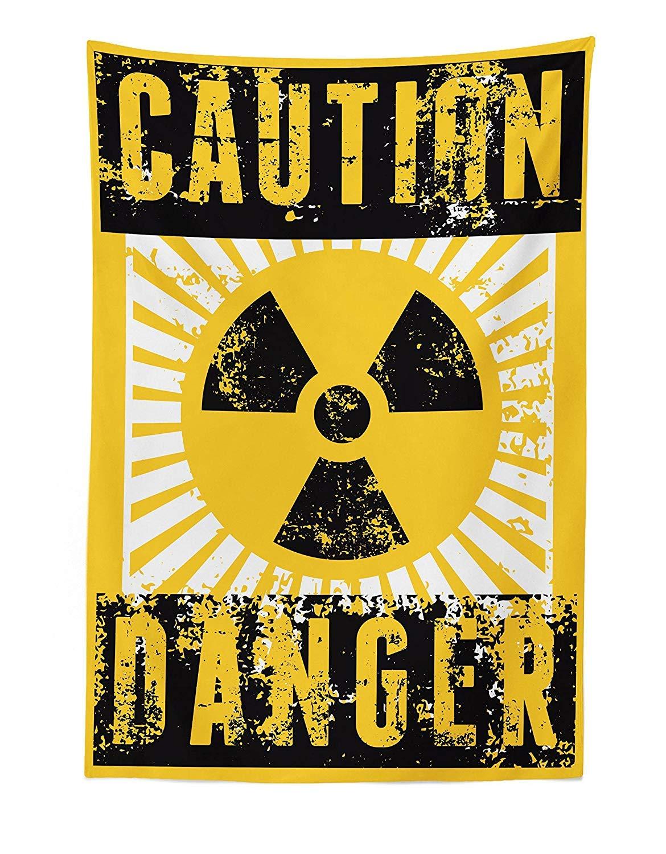 d/écor de tenture Murale en Tissu pour Chambre Salon dortoir Signe avec Prudence et Danger Icon Atomic Nuclear Area M/éfiez-Vous des Illustrations Toxiques Soefipok Tapisserie Vintage