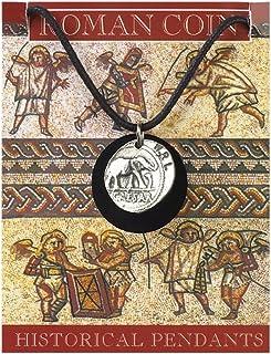 Roman Coin Caesar Denarius ciondolo color argento