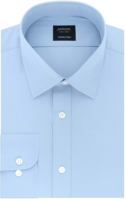 Charles Tyrwhitt Men/'s Classic Fit Blue Pinstripe Dress Shirt--Size 18//35