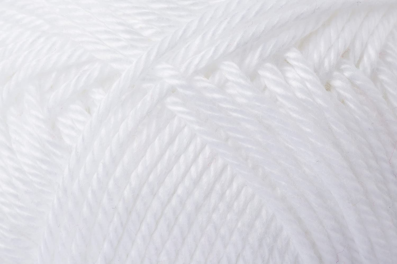 Schachenmayr Ovillo Hilo de algodón para Punto y Ganchillo Catania 9801210, Weiß, 11,5 x 5,2 x 6 cm: Amazon.es: Hogar