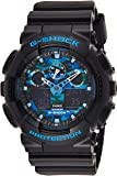 Casio G-Shock Ana-Digital Watch - Black/Blue (GA100CB-1A)