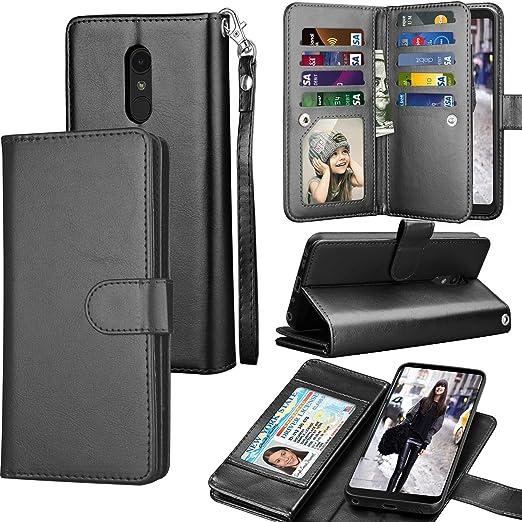 LG Stylo 4 Case,LG Stylo 4 Plus Wallet Case,LG Stylus 4 Case,Premium Ultra Slim PU Leather Folio Flip Magnetic Phone Case Cover with Card Slots Holder /& Kickstand for LG Stylo 4//LG Stylus 4,Black