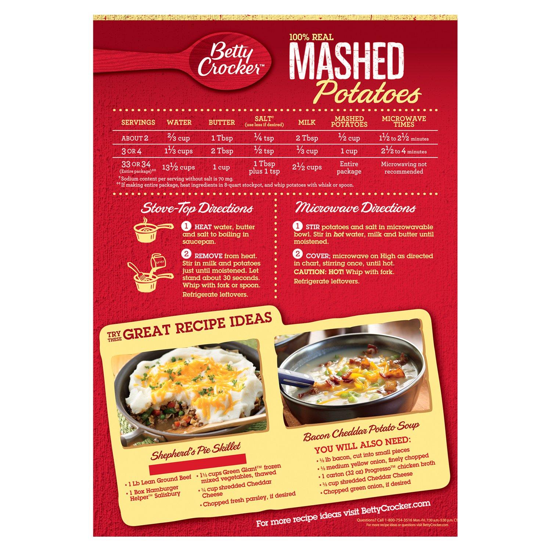 Amazon Betty Crocker Mashed Potato Buds 28 Ounce Pack Of 6