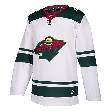 6a57f7ea5549c Amazon.com : adidas Minnesota Wild NHL Men's Climalite Authentic ...