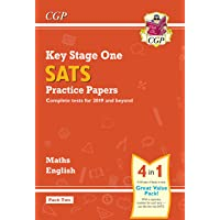 New KS1 Maths and English SATS Practice Papers Pack (for the 2019 tests) - Pack 2 (CGP KS1 SATs Practice Papers)