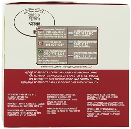 Coffee Capsules, Americano, 1.86 oz., 16 per Box: Amazon.es ...