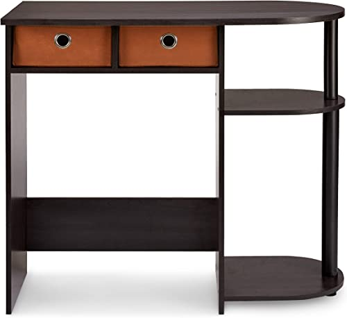 Civet Home Computer, Home Desk, Espresso, Black, Brown