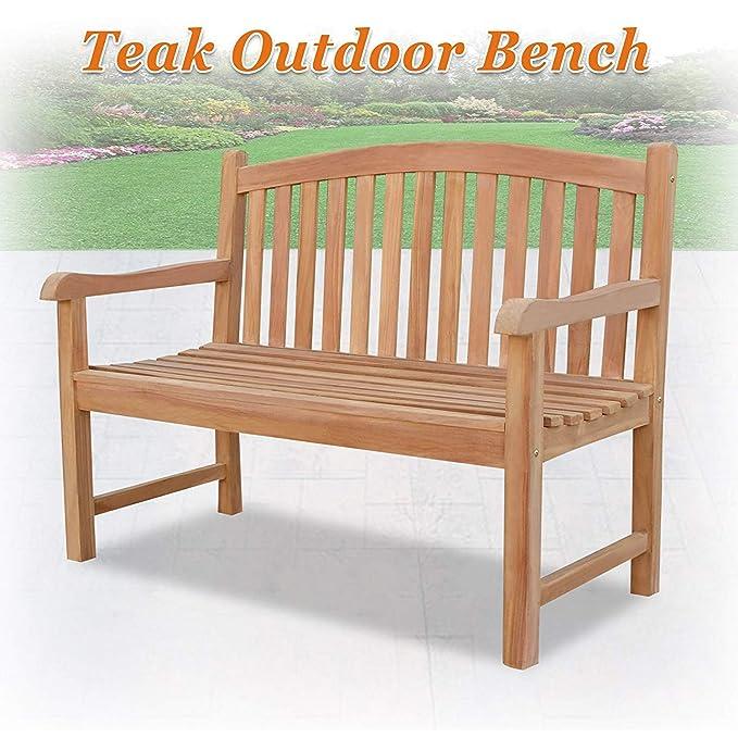 Amazon.com: King Teak TGF – Banco de madera para patio ...