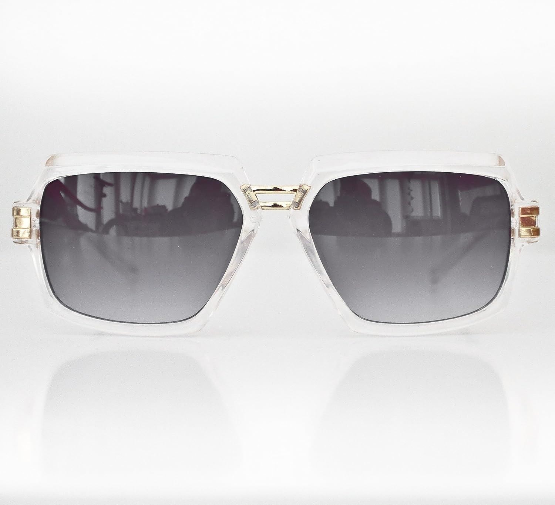 3e7a694aa7ad New Mens Womans Clear Frame Retro Vintage Cazal 6004 Designer Style  Sunglasses - Hip-Hop 80 s RUN DMC  Amazon.co.uk  Clothing